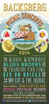 Backsberg Picnic Concerts 2014