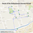 Route of the Stellenbosch Harvest Parade 2013 #map