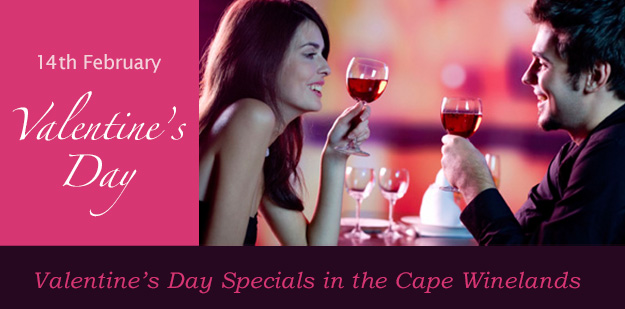 Valentines Day Specials in the Cape Winelands