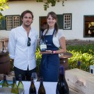 Dane Raath and Jessica Sauerwein of Boucahrd Finlayson Wine Estate at Constantia Fresh Festival 2013