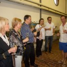 Tasting Chardonnay which was recently harvested at Dombeya / Haskell, Stellenbosch