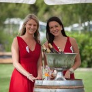 Vrede en Lust ladies in red at Franschhoek Summer Wines Festival