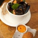 Brasserie – Tomato chilli mussels | Scotch egg smoked aioli Paprika