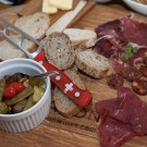 Classical Mediterranean antipasti platter